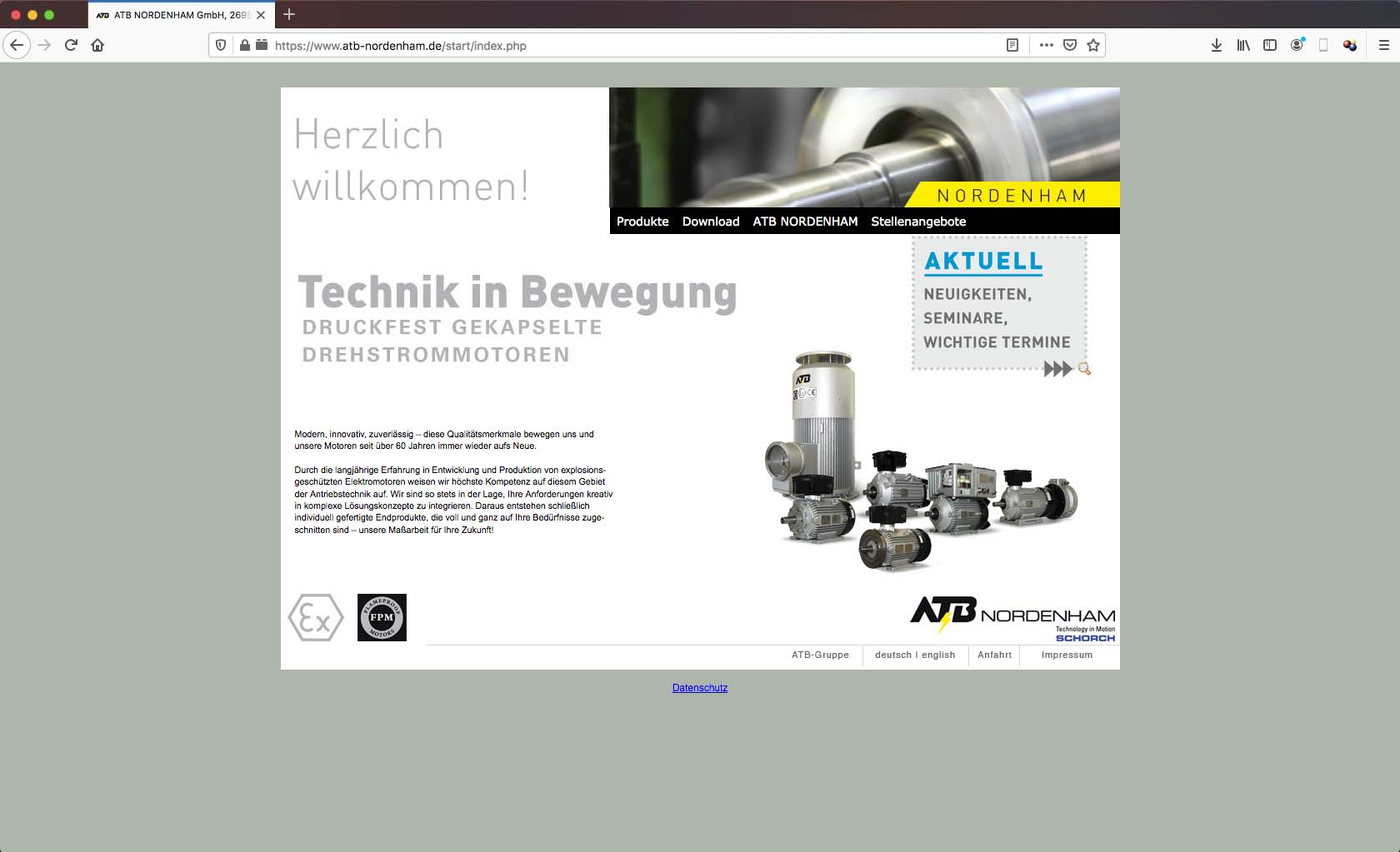 ATB Nordenham - Website